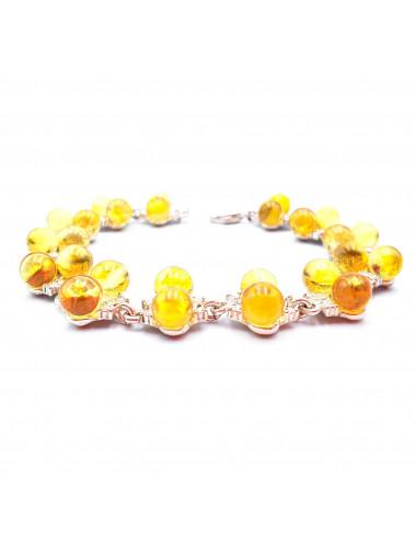 Amber beads balls. Natural amber beads