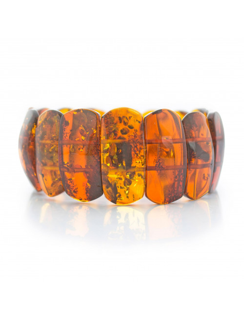 Long amber beads. Amber Honey Beads