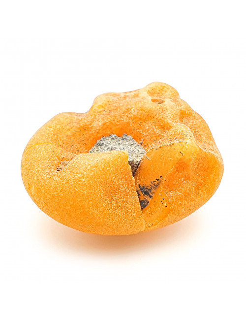 Clips with a stone amber. Amber jewelry