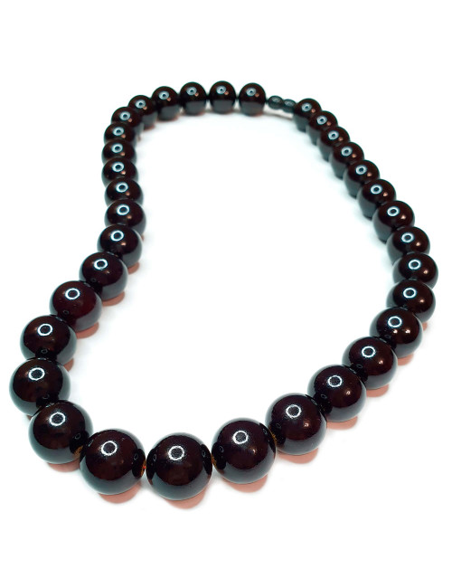 Baltic amber beads. Amber toffee color necklace