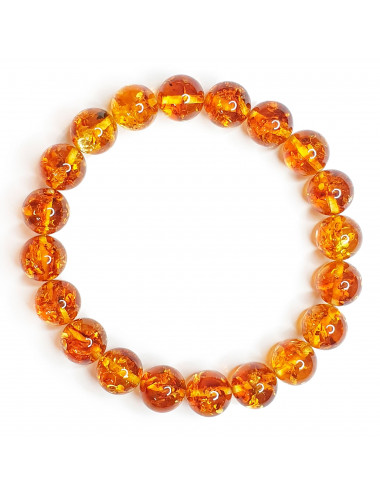 Honey amber clip earrings