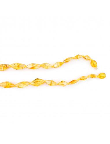 Кольцо с янтарем Роза