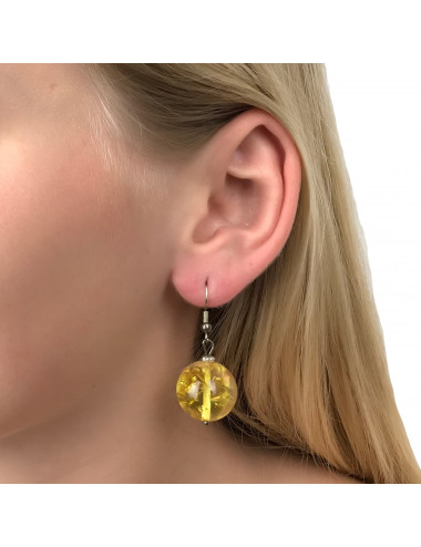 Necklace made of yellow natural amber. Landscape amber beads