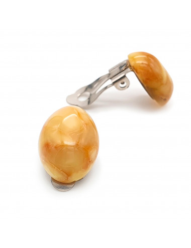 Amber beads. Beautiful necklace made of natural stone. Brilliant cut