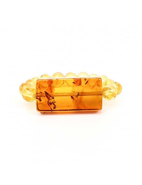 Yellow amber earrings. Amber jewellery vintage