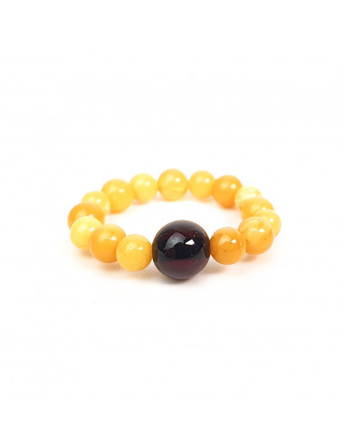 Earrings with amber photo. Yellow Ball Earrings