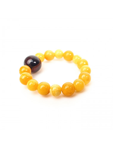 Yellow amber earrings. Amber Ball Earrings