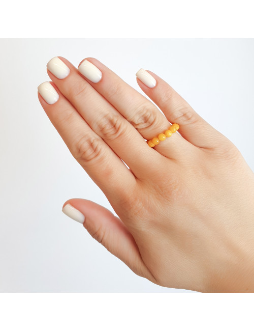 Amber rose earrings. Amber jewellery russia