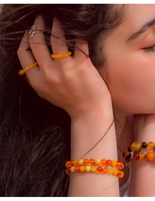 Yellow amber earrings vintage. Baltic Amber from Russia