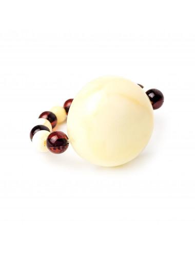 Red amber earrings. Huggie earrings with amber red.