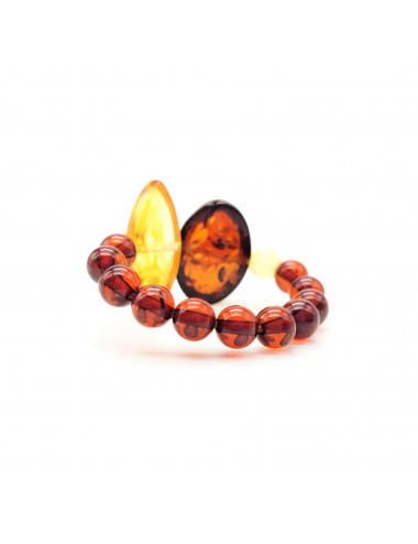 Amber Clip Earrings for sale