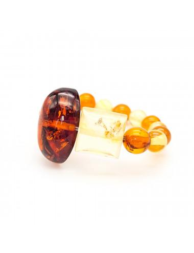 Amber clip earrings