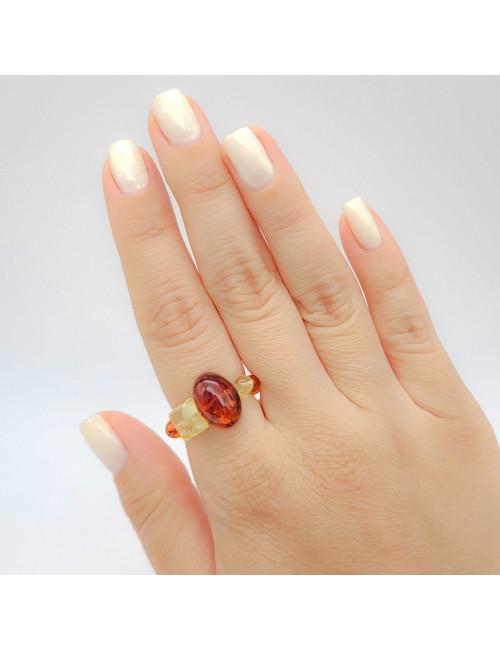Yellow amber earrings. Amber jewellery online