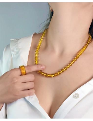 Amber beads dark cherry