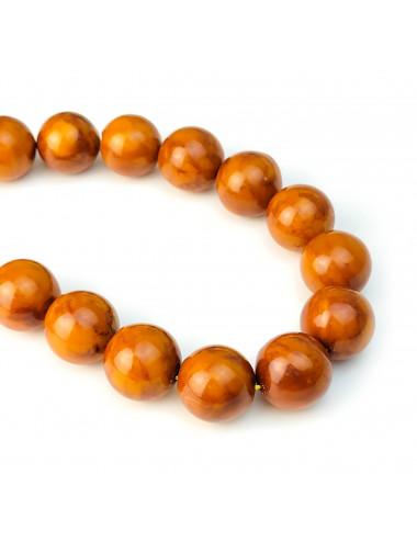 Янтарь камень кулон. Натуральный янтарь шар кулон