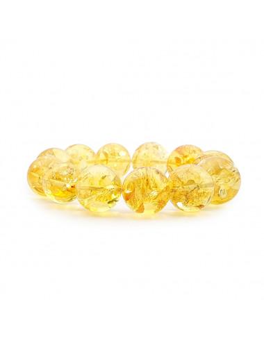 Бусы из янтаря лимонные