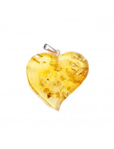 Beads from Kaliningrad amber. Cognac Amber