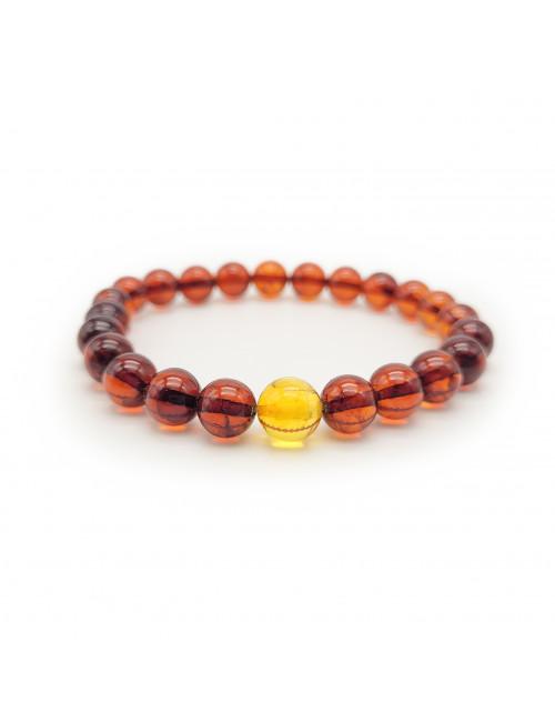 White amber beads. White amber beads