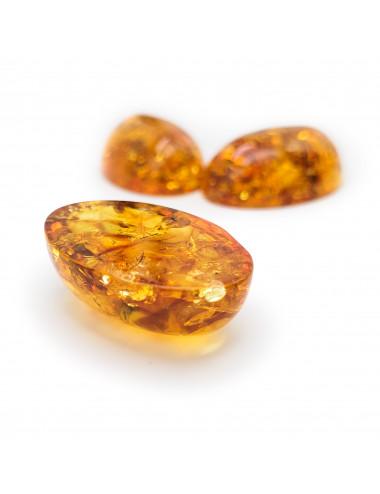 Amber pendant heart cognac