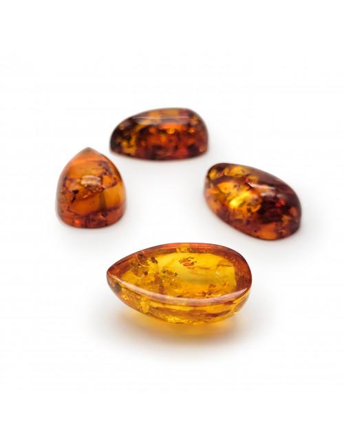 Bracelet made of honey amber. Amber bracelet with elastic