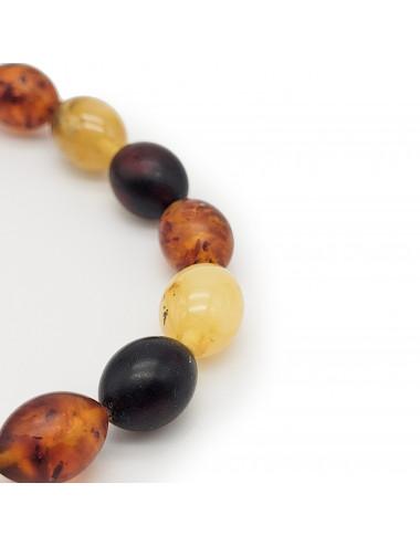 Stylish amber necklace. Amber beads cubes