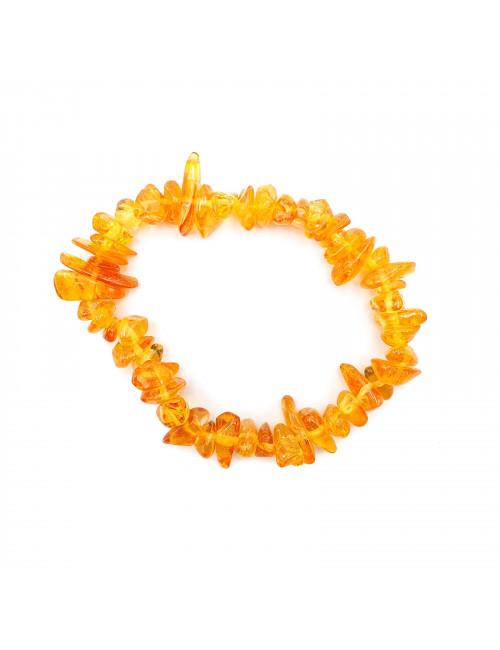 Колье из натурального янтаря. Янтарные бусы желтые